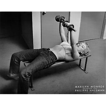 Marilyn Monroe Hollywood (with weights) c1952 Poster Print by Philippe Halsman (28 x 22)