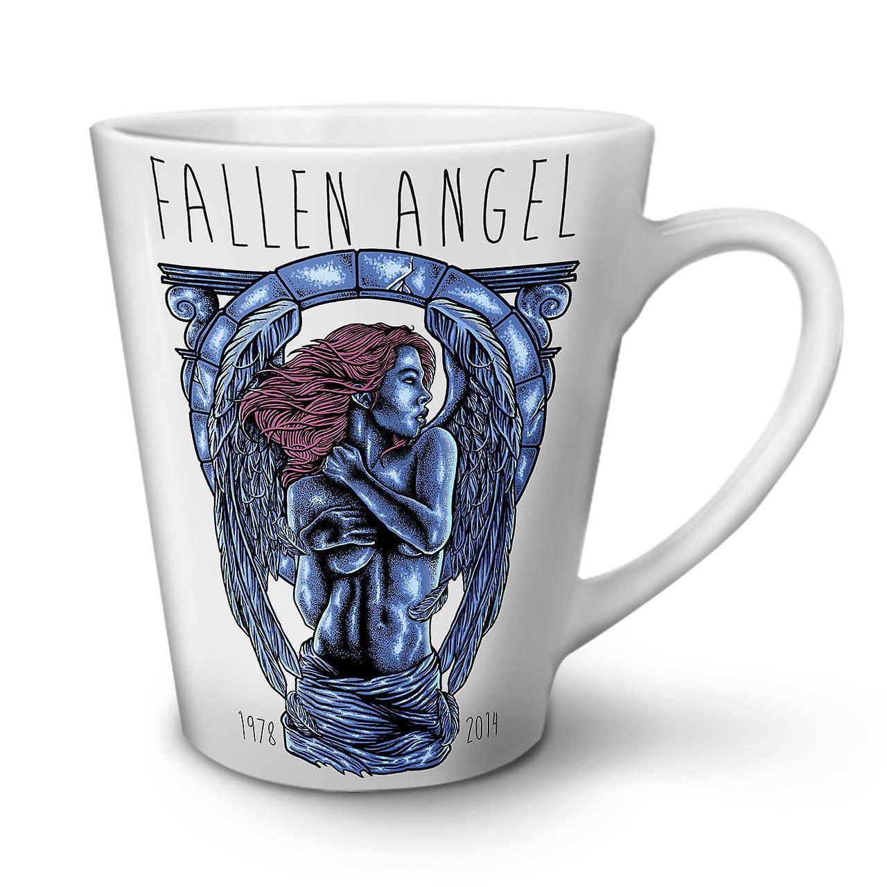 Angel Mug Céramique En Fallen OzWellcoda Nouveau Mode Café Thé 12 Art Latte Blanc OkiXPuTZ