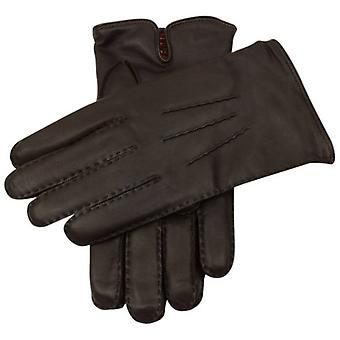Dents Levens Cashmere Lined Hairsheep Leather Gloves - Brown/Tangerine