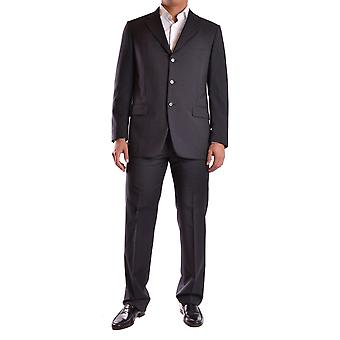 Burberry men's MCBI056045O Black wool suit