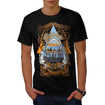 Seaside Beach Californie BlackT-chemise homme   Wellcoda