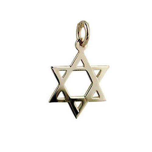 9ct Gold 17x17mm plain Star of David Pendant