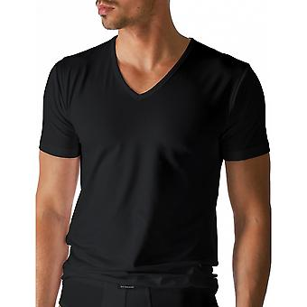 Mey 46107-123 Men's Dry Cotton Black Solid Colour Short Sleeve Top