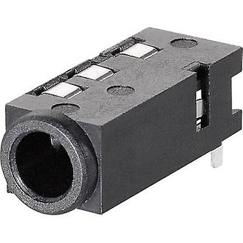 3.5 mm audio jack Socket, horizontal mount Number of pins: 4 Stereo BKL Electronic 1109300 1 pc(s)