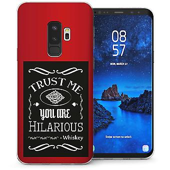 Samsung Galaxy S9 Plus Hilarious Whiskey Quote TPU Gel Case – Red