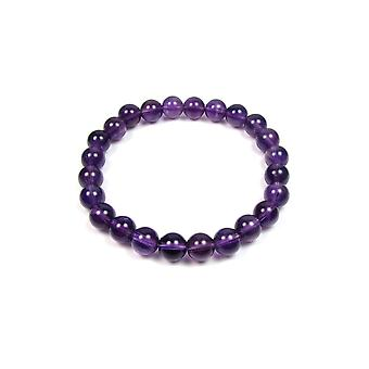 Bracelet Stretch in beads of amethyst Violet woman