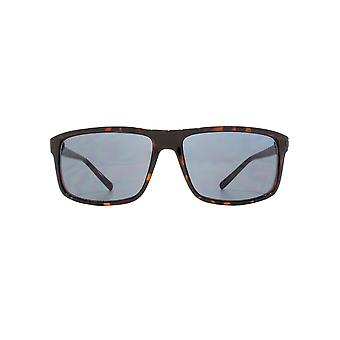 FCUK Sporty Rectangle Sunglasses In Matte Dark Tortoiseshell