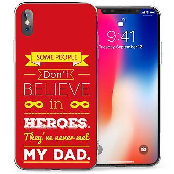 iPhonegeval X vader Heroes citeer TPU Gel - rood