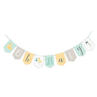 Club Green J019UX Oh Baby Mint Card Bunting