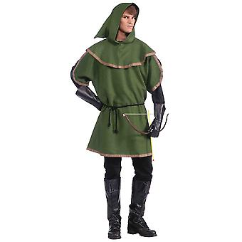 Sherwood Forest Archer Robin Hood Medieval Warrior Mens Costume Tunic STD