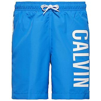 Calvin Klein Boys Intense Power Swim Shorts, Electric Blue Lemonade, XX-Large