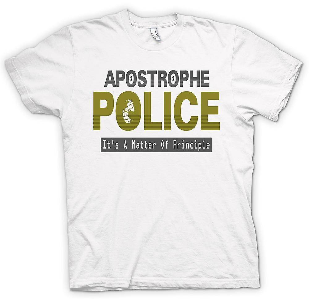 Womens T-shirt - Apostrophe Police - Funny