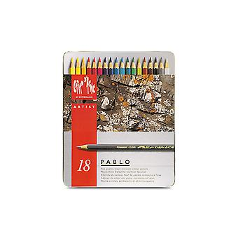 Caran D'Ache Pablo Colour Pencil Tin 18