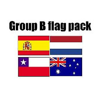 Grupp B Football World Cup 2014 flagga Pack (5 ft x 3 ft)