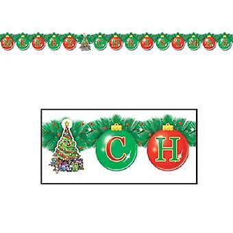 Счастливого Рождества серпантин 5¼» x 5' 6