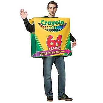 Crayola Box 64 Crayons Colors Art School Birthday Party Womens Mes Costume OS