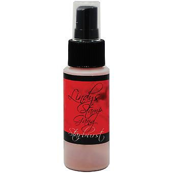 Timbre Gang Starburst Spray 2oz bouteille-Poinsettia de Lindy rouge or
