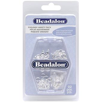 Findings Variety Pack 134/Pkg-Silver-Plated