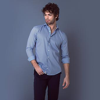 Fabio Giovanni Brindis Shirt - Mens Italian Fine Print Casual Shirt - Long Sleeve