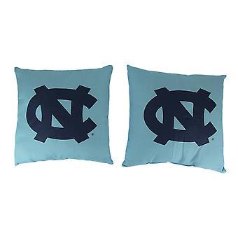 NCAA North Carolina Tar Heels Throw Pillow Set di 2