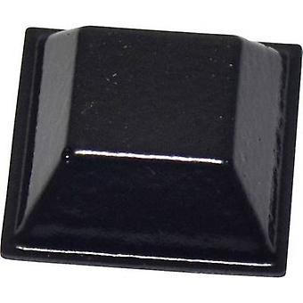 TOOLCRAFT PD2205SW Foot self-adhesive, square Black (L x W x H) 20.6 x 20.6 x 7.6 mm 1 pc(s)