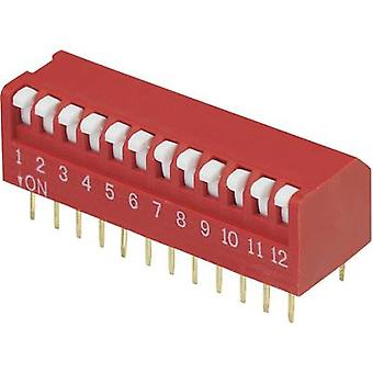 DIP switch Number of pins 12 Piano-type TRU COMPONENTS DPR-12 1 pc(s)