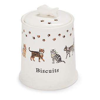 Cooksmart Cats on Parade Ceramic Biscuit Canister
