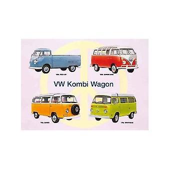 VW Kombi Montage staal teken