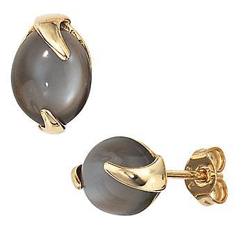 Øredobber-585 /-g-Moon stein øredobber øredobber gull 585's moonstones