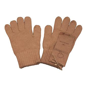 Body4real Organic Clothing 100% Certified Cotton Unisex Gloves Brown Medium