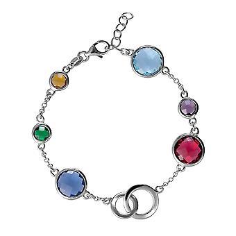 Coralie 925 argent Bracelet avec pierres multicolores 18,5 CM ZA-7409
