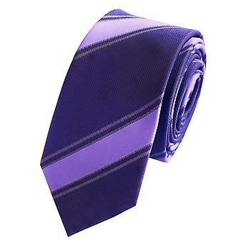 Tie tie tie tie 6cm grey-purple striped Fabio Farini