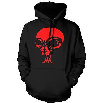Mens Hoodie - UFO - Alien  Head