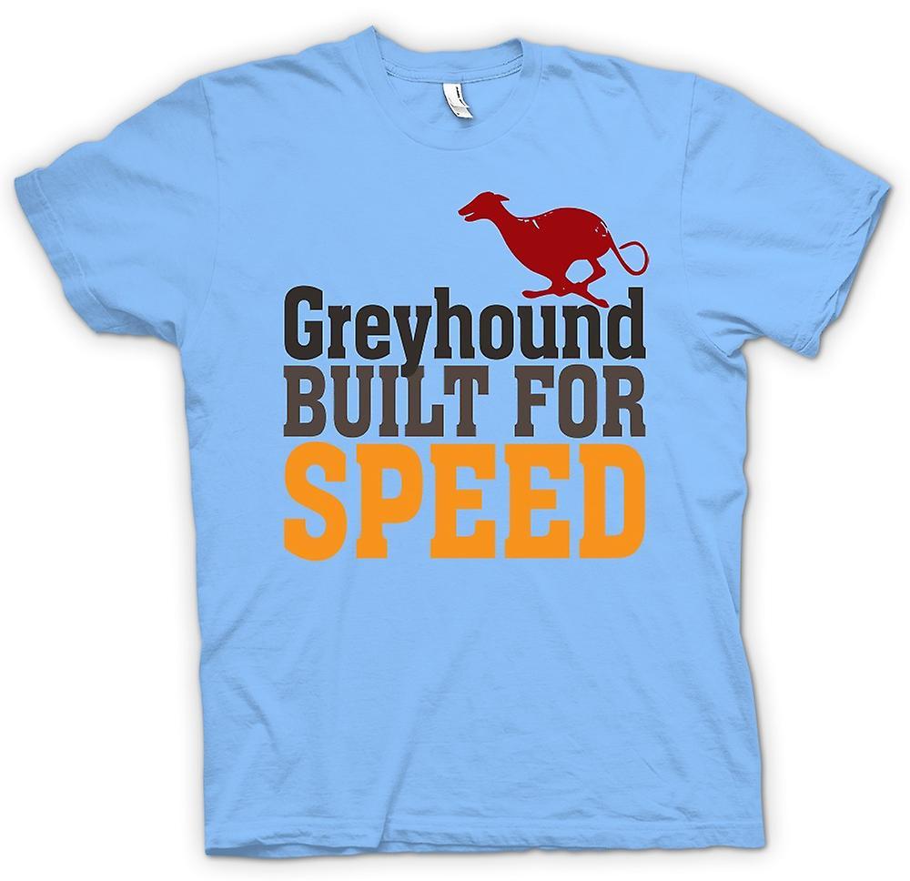 Heren T-shirt-Greyhound gebouwd voor snelheid