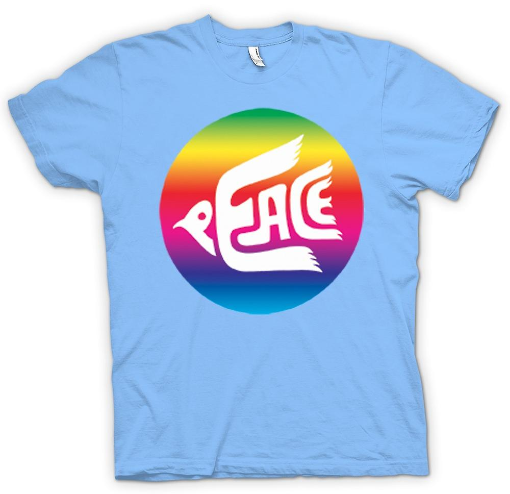 Mens t-skjorte-fred Rainbow Dove Logo
