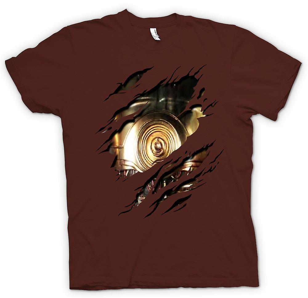 Heren T-shirt-C3PO Star Wars geïnspireerde geript Design