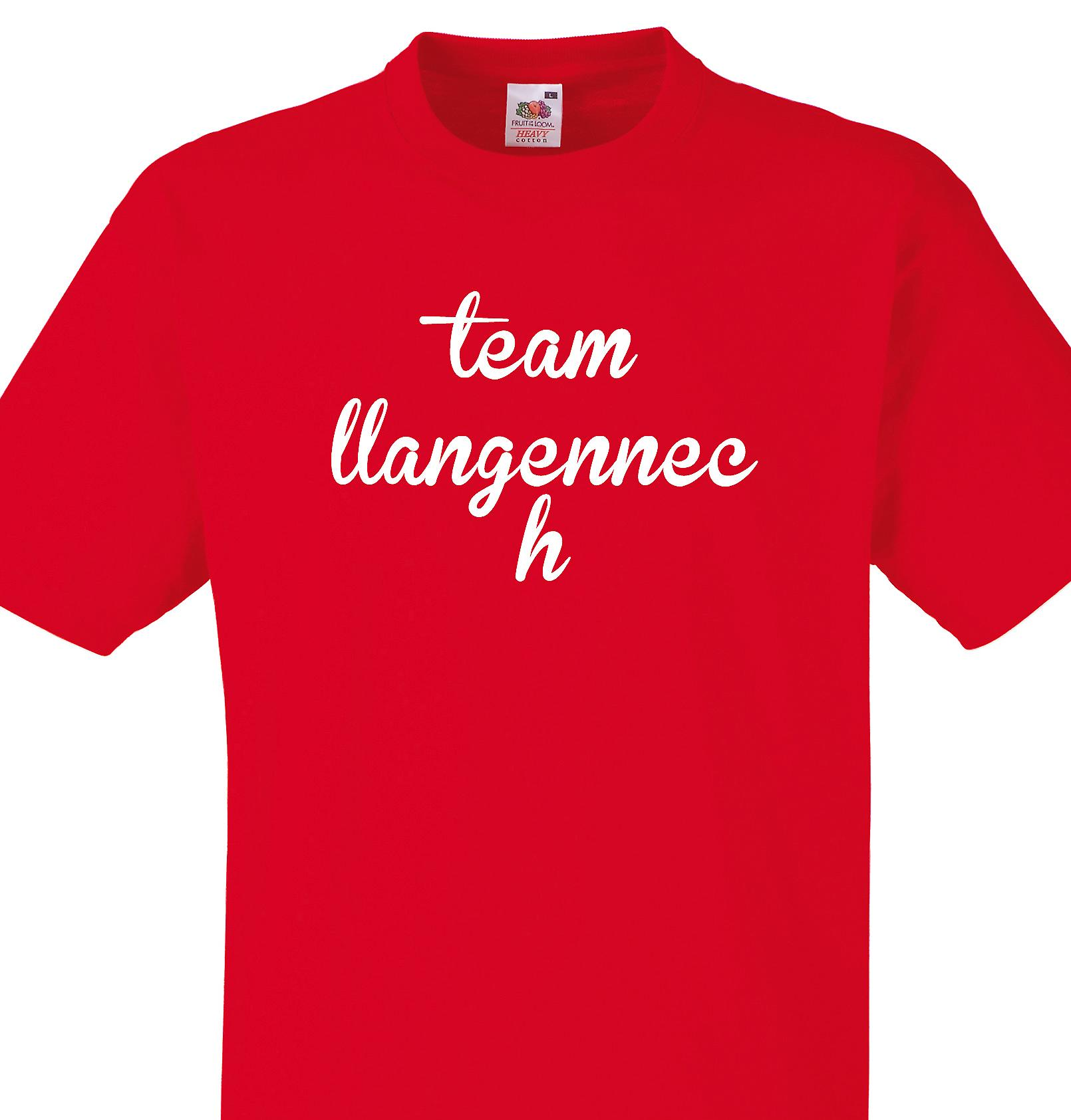 Team Llangennech Red T shirt