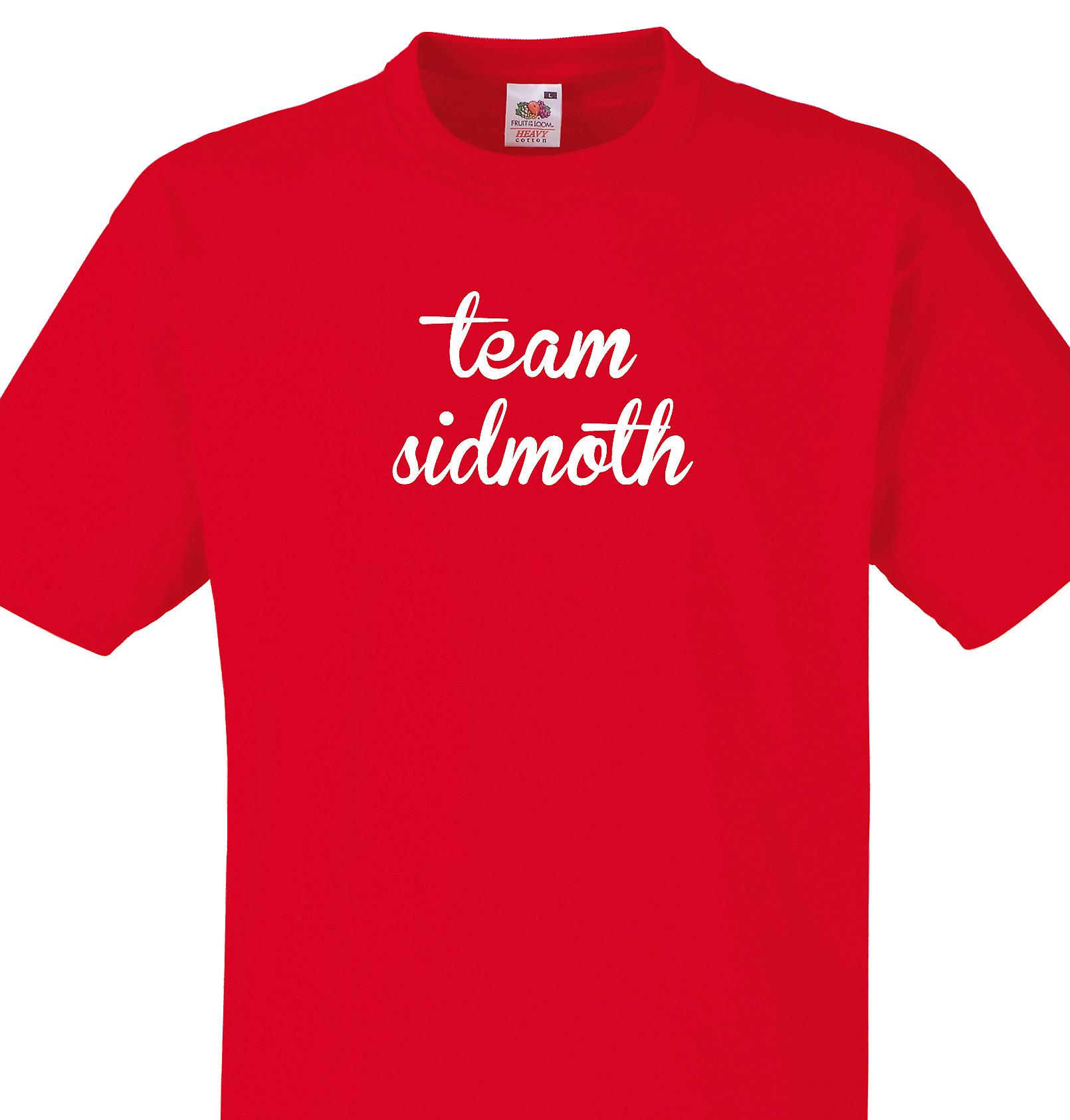 Team Sidmoth Red T shirt