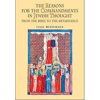 Gründe für die Gebote im jüdischen denken: aus der Bibel bis zur Renaissance (Handbibliothek des jüdischen Geistesgeschichte)