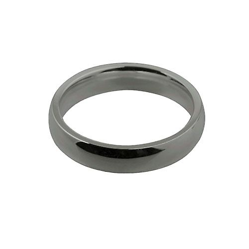 Platinum 4mm plain Court shaped Wedding Ring Size N