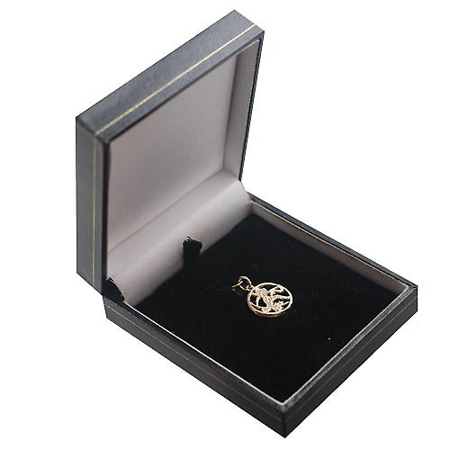 9ct Gold 11mm pierced Virgo Zodiac Pendant