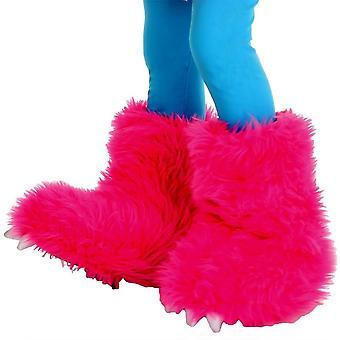 怪物靴子热粉红色