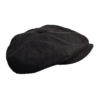 G&H Dark Grey Wool Newsboy Cap 58cm