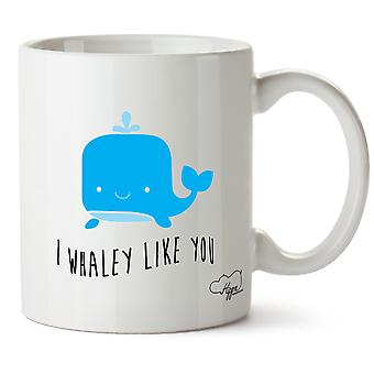 Hippowarehouse ich Whaley, wie Sie Mug Tasse Keramik 10 oz gedruckt