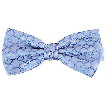 Knightsbridge Neckwear Floral Polyester Bow Tie - Blue