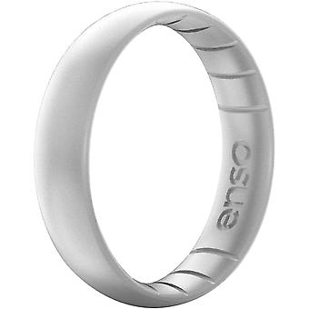 Enso Rings Thin Elements Series Silicone Ring - Silver
