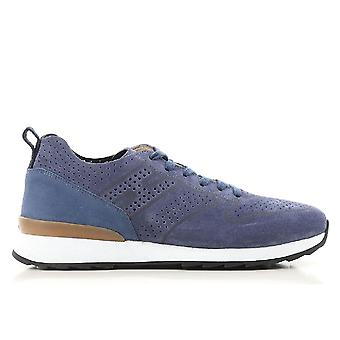 Hogan Blue Suede Sneakers