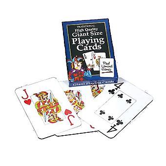 Cartes à jouer traditionnelles de taille géante Jumbo