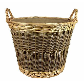 Unpeeled Log Basket with Lining