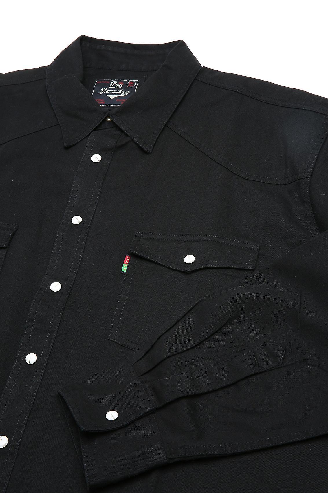 Duke London Black Denim Shirt